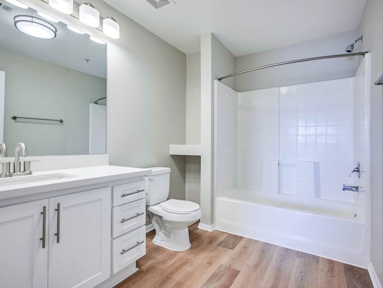 Large Soaking Tub In Bathroom at The Villas at Towngate, California